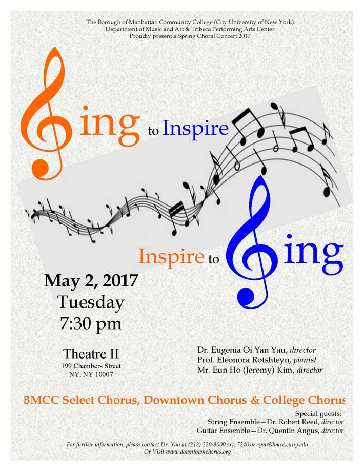 ConcertPosterSpring2017 Sing to Inspire Inspire to Sing